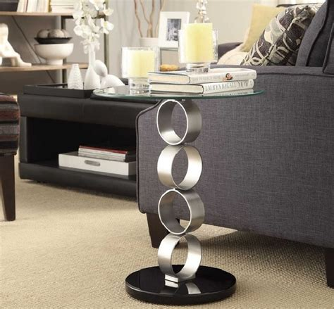 Contemporary Side Tables For Living Room Glass Side Tables For Living Room With Contemporary Design