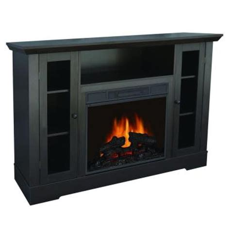 quality craft 55 in media console electric fireplace in