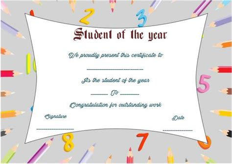 student of the year award certificate templates student of the year award certificate templates 20 free