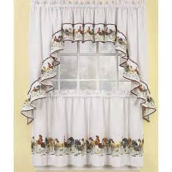 Rooster Kitchen Curtains Rooster Curtains For Kitchen Creative Home Designer