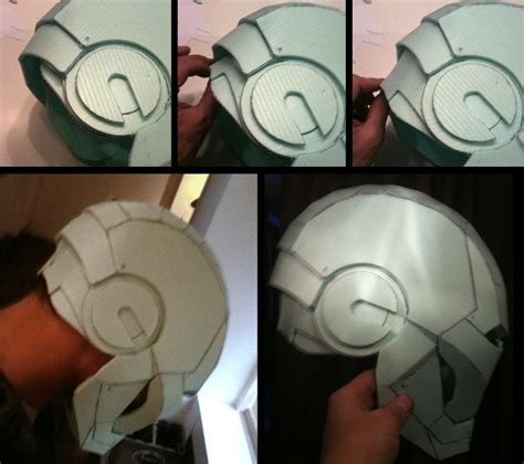 ironman easy cut foam building iron man costume pinterest