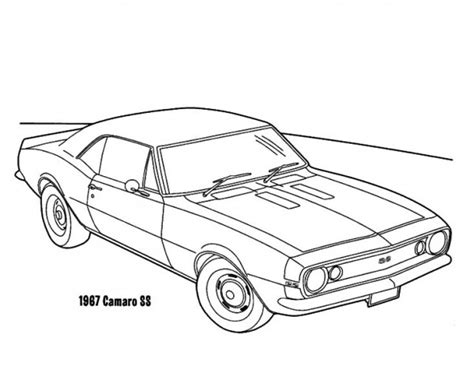 coloring pages camaro cars 1967 camaro cars ss coloring pages best place to color