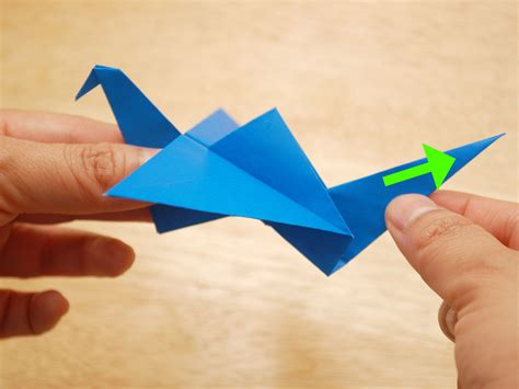 How To Make Flying Bird With Paper - 3 ways to make an origami flying bird wikihow