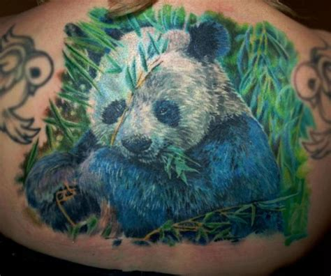 panda tattoo realistic realistic back panda tattoo by serenity ink 414