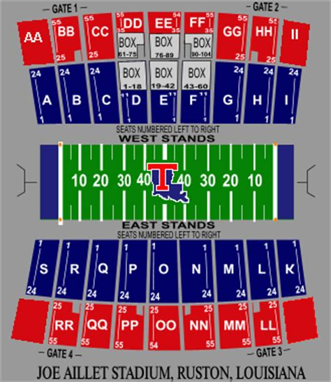 tech stadium seating capacity louisiana tech bulldogs 2014 football schedule