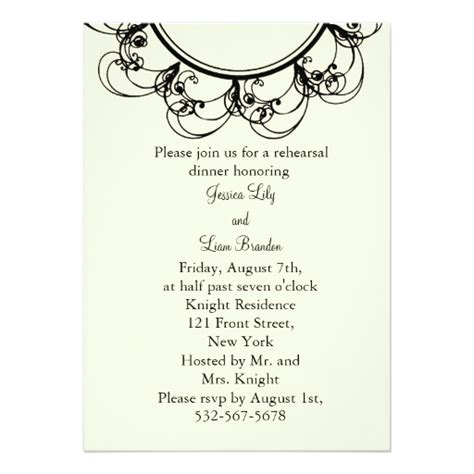 fancy dinner invitations fancy monogram rehearsal dinner white 5x7 paper