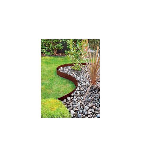 bordura giardino bordura da 3 metri in plastica marrone per aiuole e