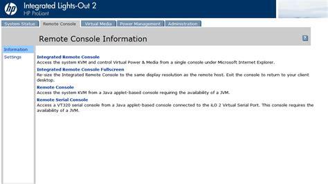 remote console framer99 investigating fixing hp ilo2 java remote console