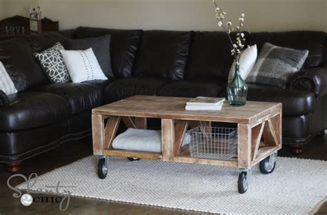 How To Make A Coffee Table Into An Ottoman Diy A Coffee Table Plans Free