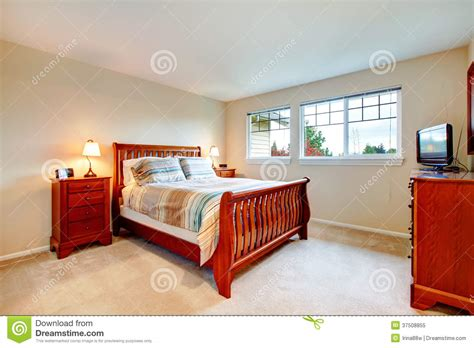 bedroom colors with wood furniture warm colors bedroom with wood furniture royalty free stock