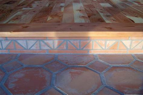 saltillo tiles meet hardwood   Earthen Touch Natural Builders