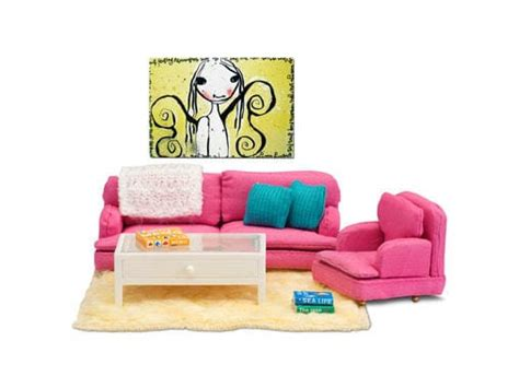 dolls house sofa and chairs lundby smaland 1 18 sitting room pink furniture sofa and chair set lundby micki leksaker