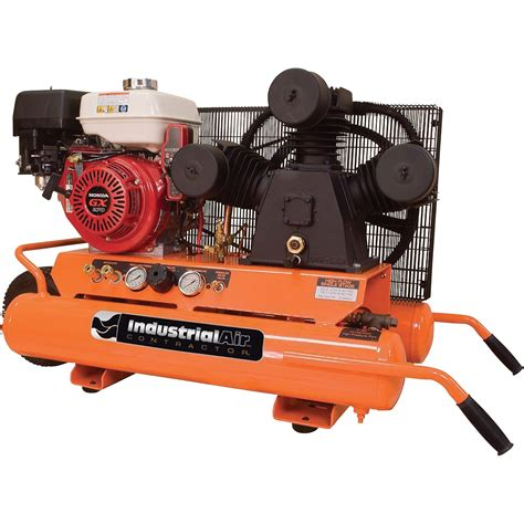 industrial air gas powered wheelbarrow air compressor 9 hp honda engine 9 gallon model