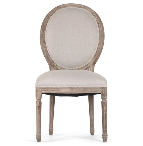 Oval Dining Chairs Pair Madeleine Country Oval Linen Limed Oak Dining Side Chair Kathy Kuo Home