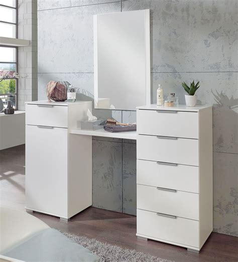 kommode mit spiegel schminkkommode wei 223 mit spiegel und viel stauraum belcastro