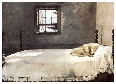 Master Bedroom Andrew Wyeth | dog art today andrew wyeth dies at 91