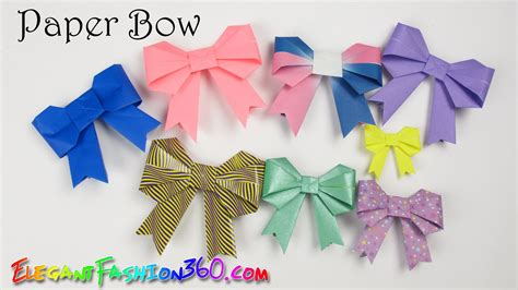 Construction Paper Origami - diy paper crafts paper bow ribbon and easy how to