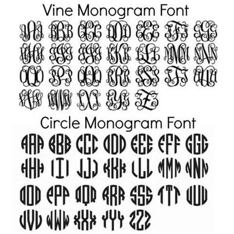 printable text fonts free circle monogram fonts download monogrammed pinteres