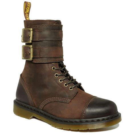 low boots dr martens brock lace low boots in brown for