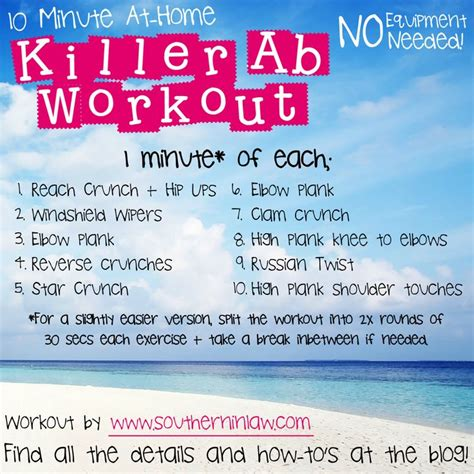 killer 10 minute ab workout posts home and killer abs