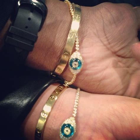 Kanye West and Kim Kardashian Show Off Matching Lorraine Schwartz and Cartier Bracelets