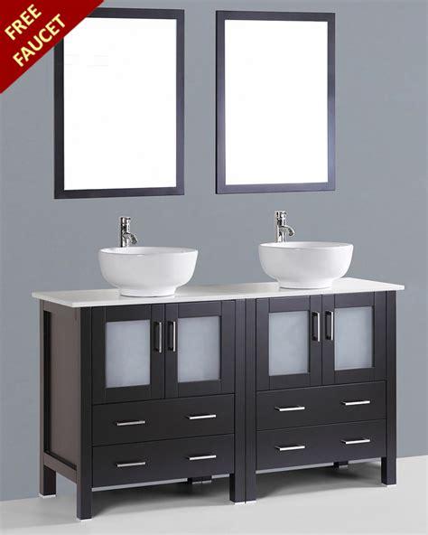 round bathroom vanity bosconi 60in double round sink vanity boab230ro
