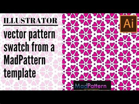 save pattern swatch illustrator create color and save a vector pattern swatch in