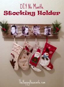 mantle stocking holder  happy housewife home management