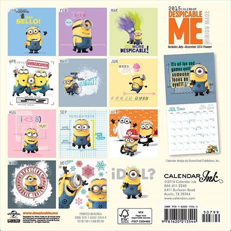 make me a calendar image gallery minion calendar 2015