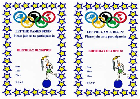 Olympic Party Invitation Template Mickey Mouse Invitations Templates Olympic Invitation Template