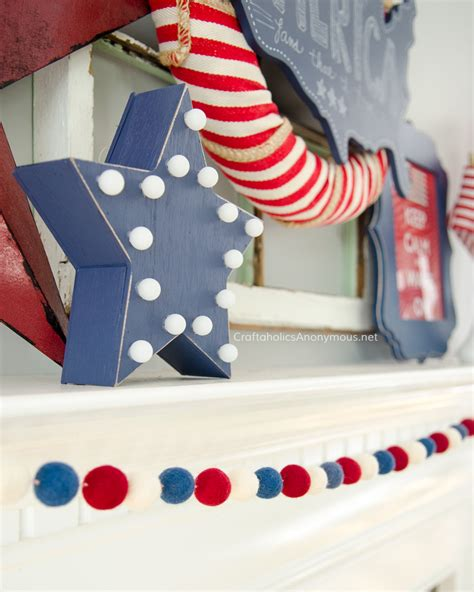 4th of july lights craftaholics anonymous 174 4th of july mantle decor
