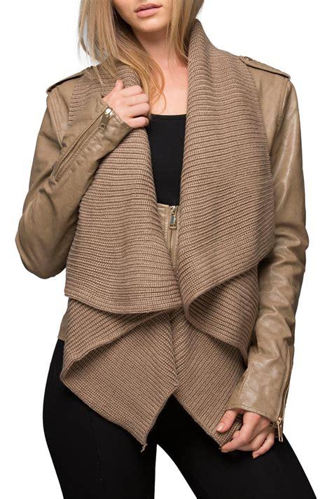Jaket Sweater sweater front jacket shoptiques