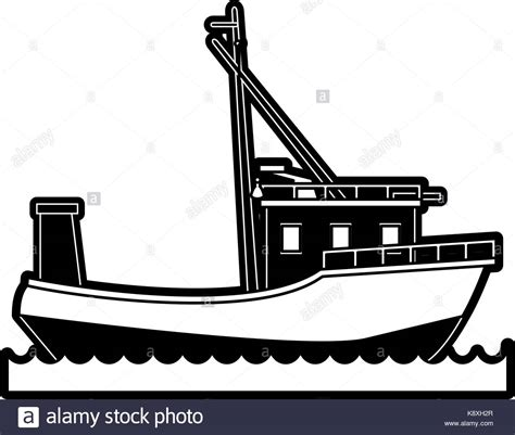 boat fishing icon hull black and white stock photos images page 2 alamy
