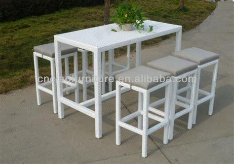 white pub set a dubai outdoor pub set white table and wicker