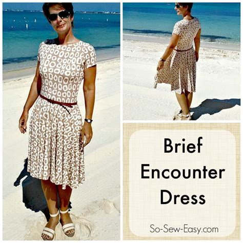 sewing pattern knit dress brief encounter knit dress by so sew easy craftsy