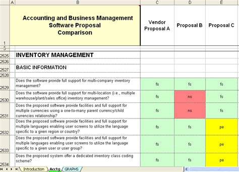 software vendor comparison template 23 images of for ben admin software evaluation matrix