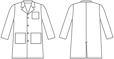 lab coat card template clipart doctor coat pencil and in color