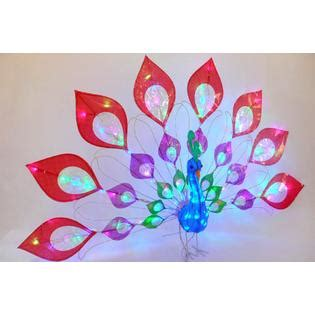 led lighted peacock outdoor christmas decoration led lighted peacock outdoor decoration 57 in