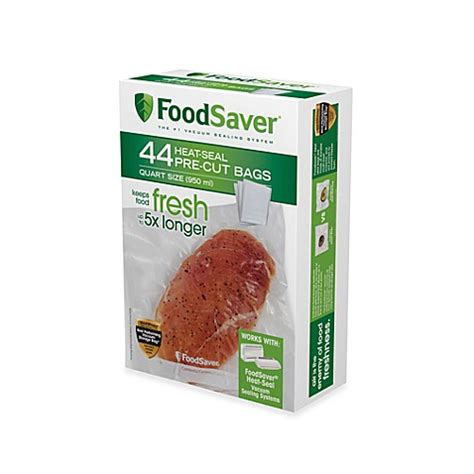 bed bath and beyond foodsaver foodsaver 174 1 qt 44 pack vacuum packaging bags bed bath