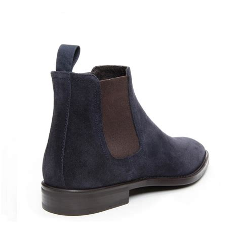 donald j pliner barton suede ankle boots in blue for