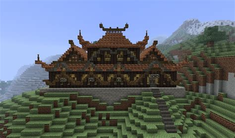 oriental house chinese house minecraft project