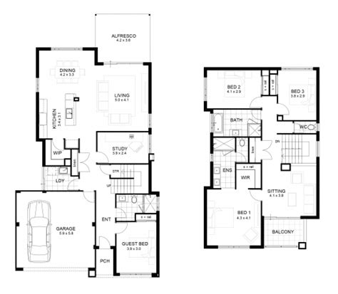 parts of a floor plan part double story house floor plans house plan ideas