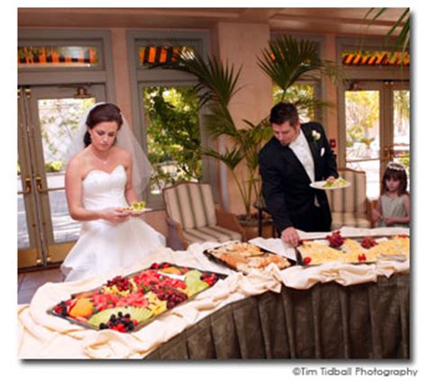 bride wedding dresses and evening dresses show buffet or