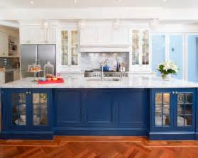 Blue Kitchens With White Cabinets by Kitchen Cool Blue White Kitchen Design Idea With White