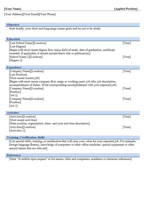 format cv contoh contoh format curriculum vitae yang menarik contoh surat org