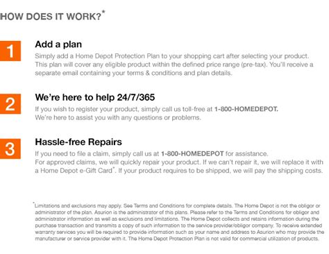 appliance protection plans appliance protection plans home the home depot 3 year protection plan for small appliances