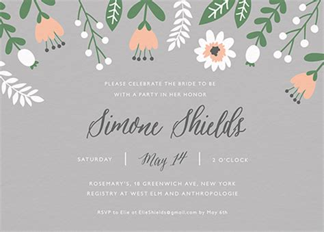 when should bridal shower invitations be mailed bridal shower invites mailed for you postable