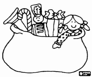 gift bag coloring page christmas gifts in a bag coloring page printable game