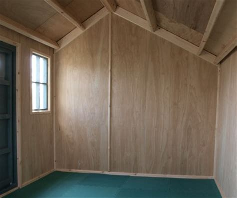 Lining A Shed With Plywood by Wall Options The Playhouse Company