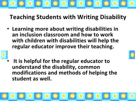 Thesis Statement For Learning Disabilities by Yale Homework